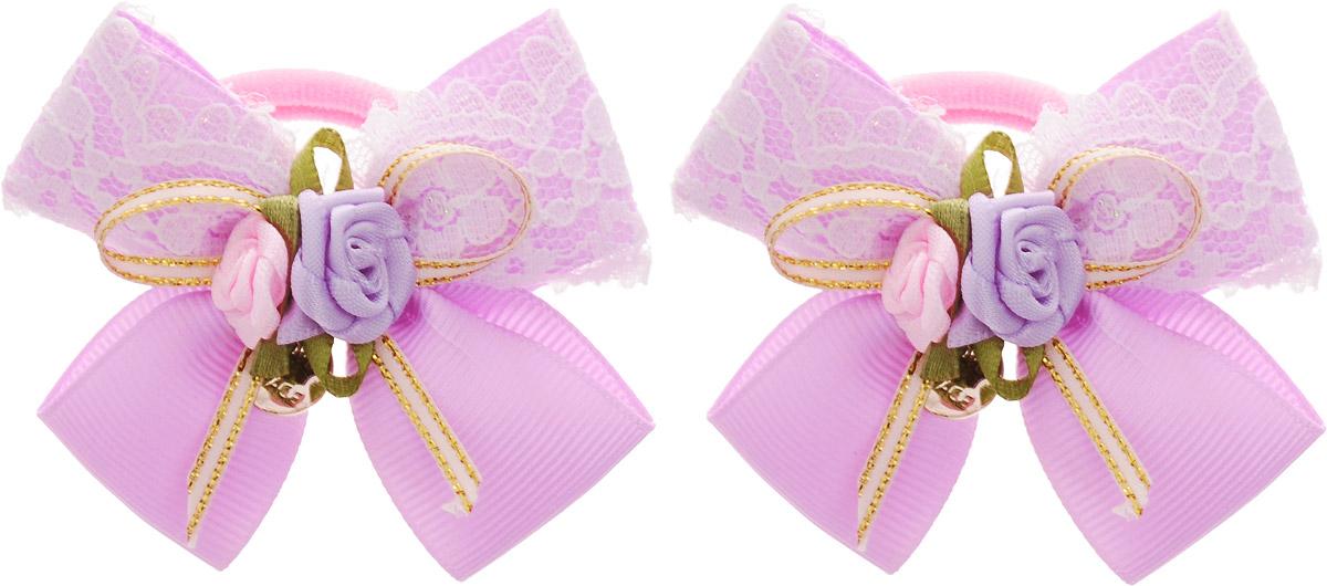 Baby's Joy Резинка для волос цвет сиреневый 2 шт MN 133/2 baby s joy бант для волос цвет розовый mn 2