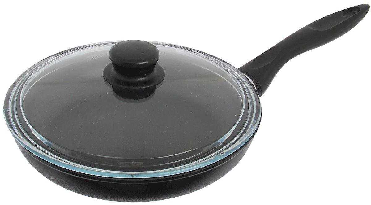 Сковорода Горница, с крышкой. Диаметр 24 см. 1574650