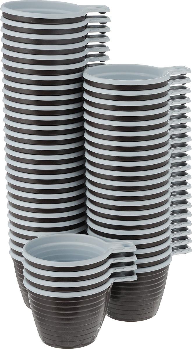 Набор одноразовых чашек Мистерия, 180 мл, 50 шт170390Набор Мистерия включает 50 одноразовых чашек, выполненных из пищевого полипропилена. Посуда предназначена для холодных и горячих (до +100°С) напитков. Изделия снабжены удобными ручками, отличаются прочностью и устойчивостью. Такой набор чашек отлично подойдет для отдыха на природе, пикников и других мероприятий. Он легкий и не занимает много места, а самое главное - после использования его не надо мыть. Диаметр чашки (по верхнему краю): 8 см. Высота чашки: 6 см.