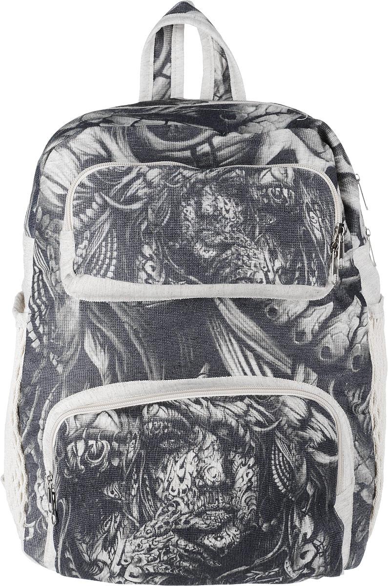 Рюкзак женский Almed Тattoo, цвет: светло-бежевый