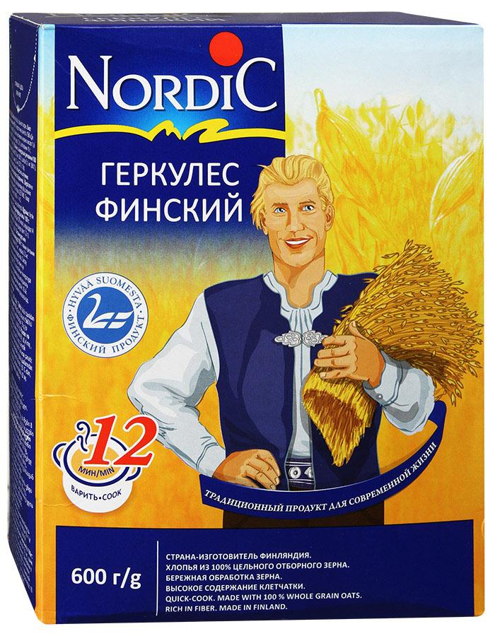 Nordic геркулес финский, 600 гбир003Время варки привычного нам Геркулеса - 20-25 минут. Благодаря уникальной технологии переработки зерна, Финский Геркулес Nordic варится, действительно, 12 минут.Хлопья для каш Nordic— вкусный продукт для заботливых мам и любимых детей! Место произрастания большей части зерна, из которого производится продукция под маркой Nordic - Финляндия, она традиционно и заслуженно считается одной из самых экологически благополучных стран мира.RAISIO- старейший в Финляндии и заслуженно является одним из уважаемых в мире переработчиков зерна. Собственные поля и селекционный центр RAISIO, позволяют контролировать процесс на всех стадиях: селекция посевного материала, посев, производство и продажа конечного продукта.Уникальная технология RAISIO по очистке зерна и производства хлопьев позволяет сохранить полезные свойства цельного зерна, гарантирует легкость в приготовлении, а такжеобеспечивает изумительный вкус приготовленных блюд. Хлопья для каш Nordic несодержат консервантов, ароматизаторов икрасителей.