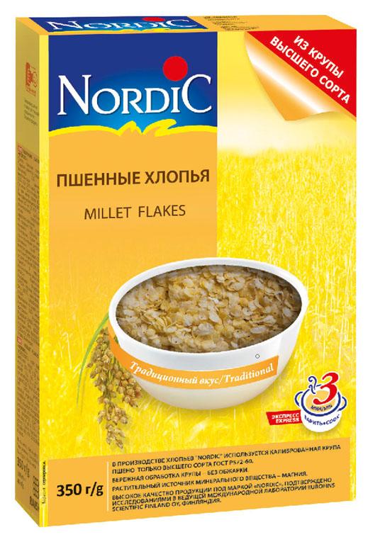 Nordic хлопья пшенные, 350 г helsinki mills хлопья органические helsinki mills овсяные крупные геркулес 400 г