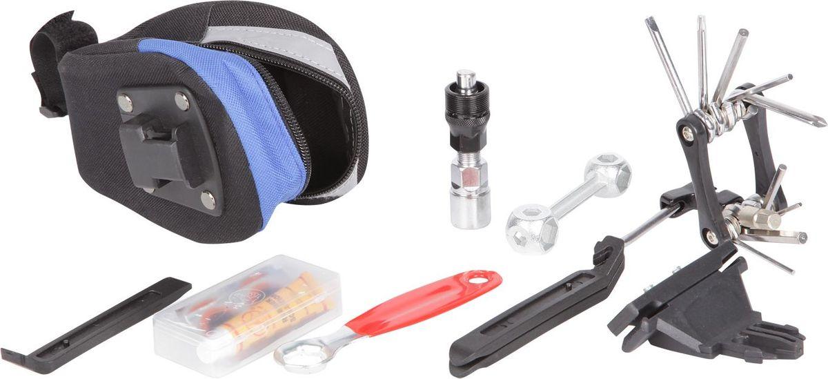 Набор инструментов STG, 7 предметовХ54008Набор STG состоит из 7 предметов, выполненных из высококачественных материалов. Все изделия упакованы в сумку под седло. В комплекте: крепеж сумки, монтажки пластиковые - 3 штуки, съемник шатунов, велоаптечка (клей, металлическая шкурка, резиновый ниппель, 5 заплаток), накидные ключи (6 мм, 7 мм, 8 мм, 9 мм, 10 мм, 11 мм, 12 мм, 13 мм, 14 мм, 15 мм, 17мм), складной набор (шестигранники - 2 мм, 2,5 мм, 3 мм, 4 мм, 5 мм, 6 мм, 8 мм), отвертки - крестовая, плоская, выжимка цепи, дополнительная стальная монтажка.