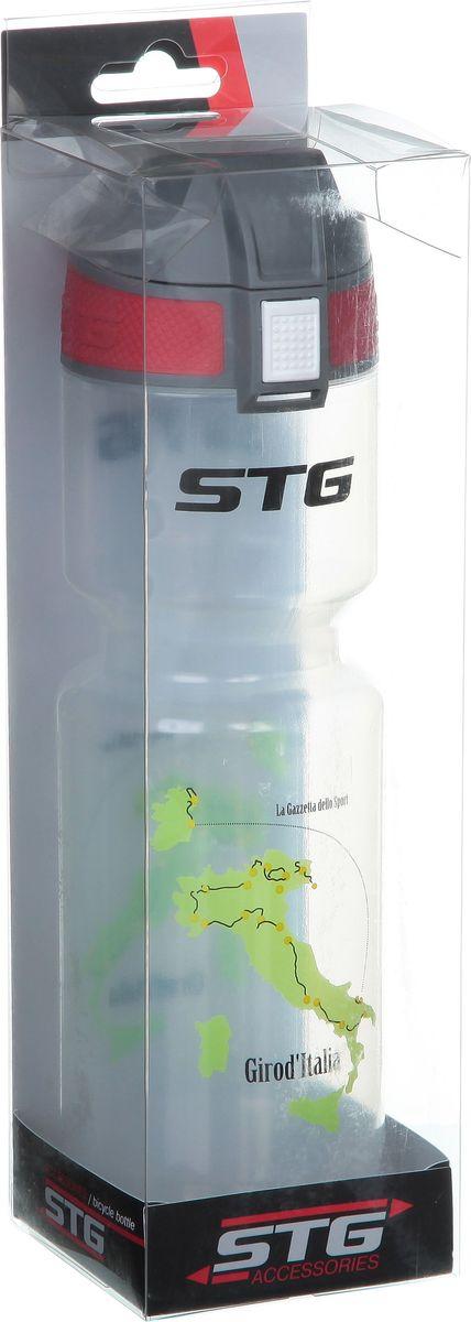 Фляга велосипедная STG GirodItalia, 750 мл. ED-BT20Х66451Велофляга GirodItalia - это незаменимая вещь в походах и на велопрогулках на большие расстояния, подойдет для всех велосипедистов, любителей или профессионалов. Фляга выполнена из ударопрочного пластика стойкого к высоким температурам. Крышка откидывается автоматически при нажатии кнопки. Эргономичная форма велобутылки позволяет легко достать и быстро поместить ее во флягодержатель. Оптимальный объем фляги (750 мл) обеспечивает необходимое количество жидкости для подпитки велоспортсмена. Велофляга имеет удобный клапан с блокировкой, который препятствует проникновению воды. Широкое горлышко позволяет перелить воду из небольших емкостей без использования воронки.Поставляется в индивидуальной упаковке.