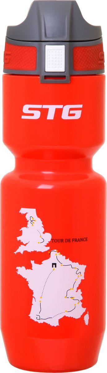 Фляга велосипедная STG Tour de France, цвет: красный, 750 мл. ED-BT21 в астрахани клапан подпитки