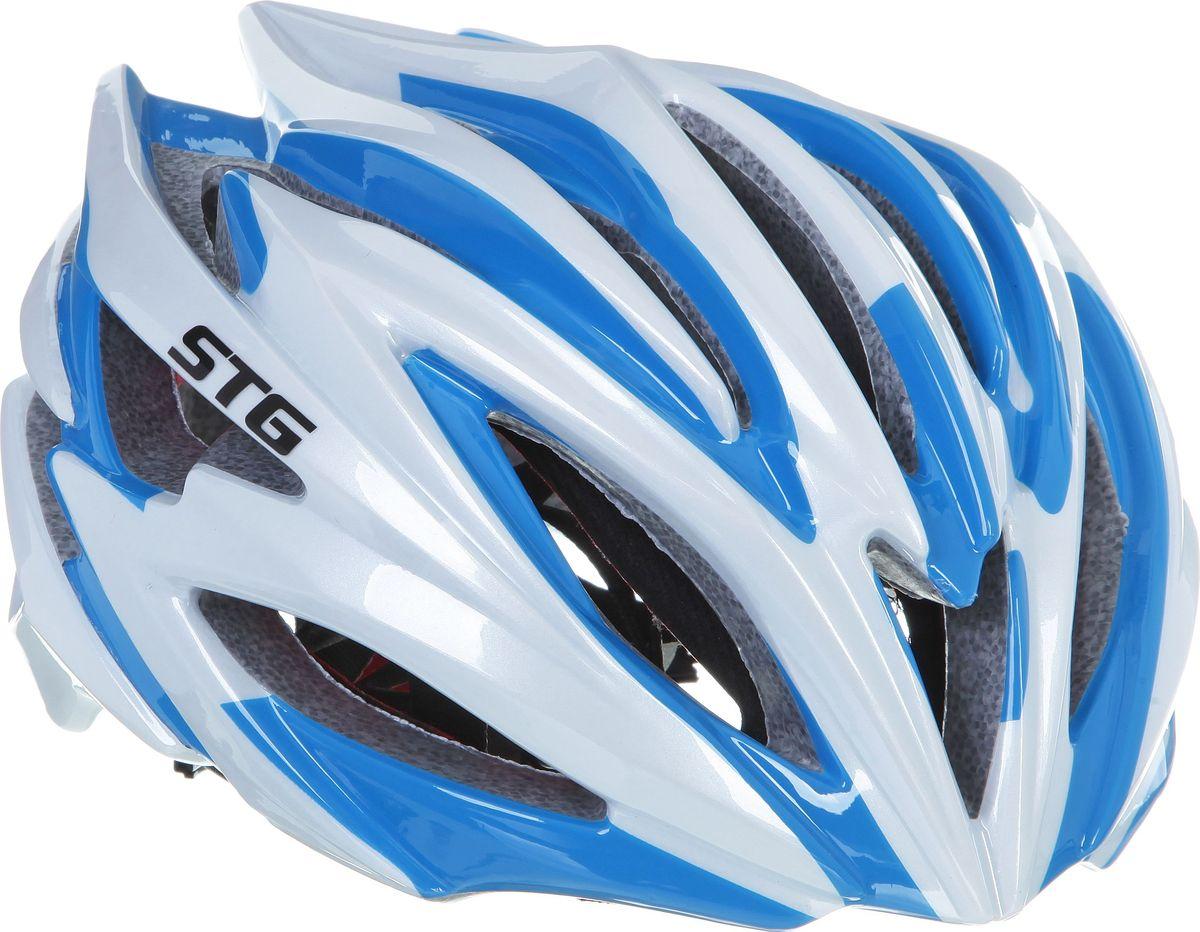 Шлем велосипедный STG HB98-A. Размер MХ66749Велошлем STG HB98-A - необходимый аксессуар каждого велосипедиста, предназначенный для защиты головы во время катания. Специальные отверстия обеспечивают оптимальную вентиляцию головы. Легкая и технологичная конструкция in-mold гарантирует безопасность райдеров, катающихся, как в городе, так и по пересеченной местности. Велошлем STG HB98-A с удобной подкладкой и застежкой, которая комфортно фиксирует шлем на голове велосипедиста - это отличный выбор для ежедневных активных поездок или безопасных прогулок по выходным. Размер шлема: обхват головы - L (56-59 см).