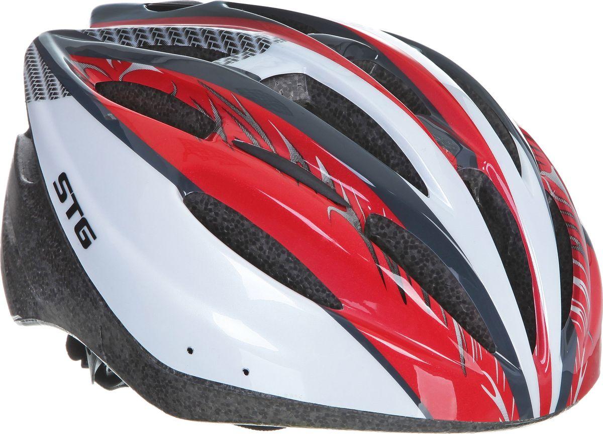 Шлем велосипедный STG MB20-1. Размер LХ66759Велошлем STG MB20-1 - необходимый аксессуар каждого велосипедиста, предназначенный для защиты головы во время катания. Специальные отверстия обеспечивают оптимальную вентиляцию головы. Легкая и технологичная конструкция Out-mold гарантирует безопасность райдеров, катающихся, как в городе, так и по пересеченной местности. Размер шлема: обхват головы - М (55-58 см).