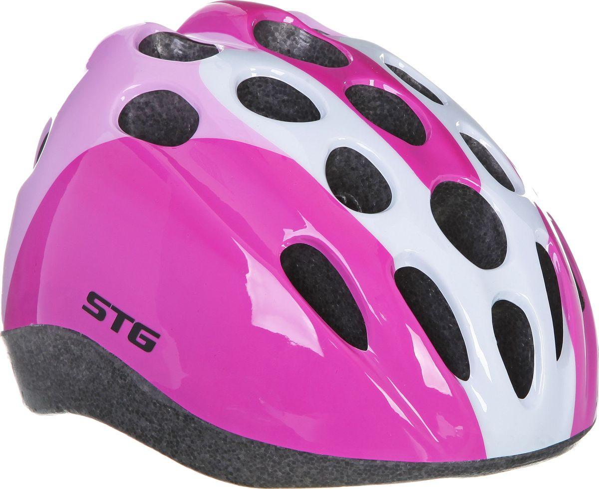 Шлем велосипедный STG HB5-3-A, детский. Размер MХ66774Детский велошлем STG HB5-3-A, выполненный из высококачественных материалов, обеспечит безопасность ребенка во время катания. Шлем является обязательным атрибутом, особенно для маленьких любителей покататься на велосипеде, беговеле или самокате, которые только познают азы самостоятельного катания. Данный велошлем изготовлен в приятной цветовой гамме, он обязательно понравится юным велогонщикам. Размер шлема: обхват головы - M (52-56 см).