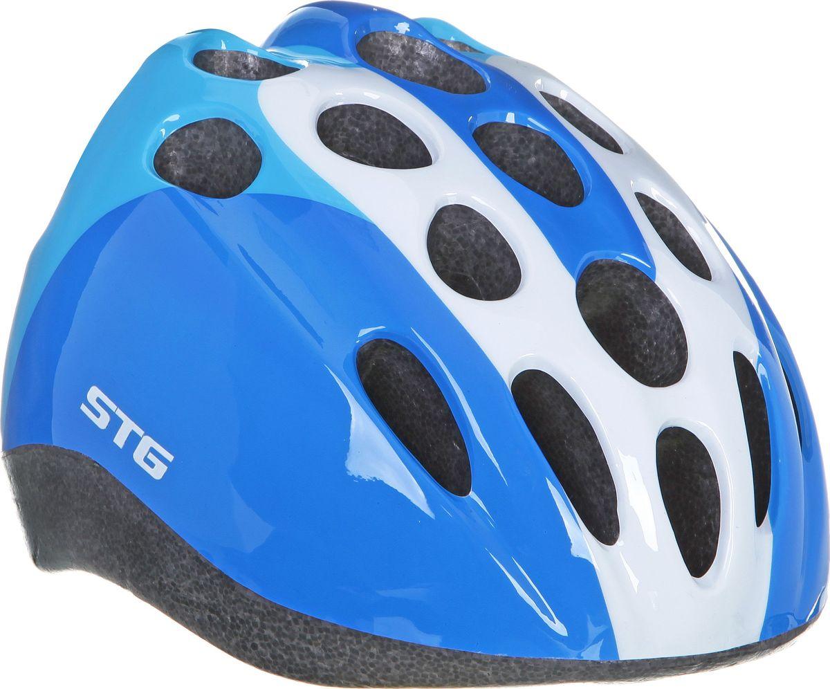 Шлем велосипедный STG HB5-3-C, детский. Размер MХ66776Детский велошлем STG HB5-3-C, выполненный из высококачественных материалов, обеспечит безопасность ребенка во время катания. Шлем является обязательным атрибутом, особенно для маленьких любителей покататься на велосипеде, беговеле или самокате, которые только познают азы самостоятельного катания. Данный велошлем изготовлен в приятной цветовой гамме, он обязательно понравится юным велогонщикам. Размер шлема: обхват головы - M (52-56 см).