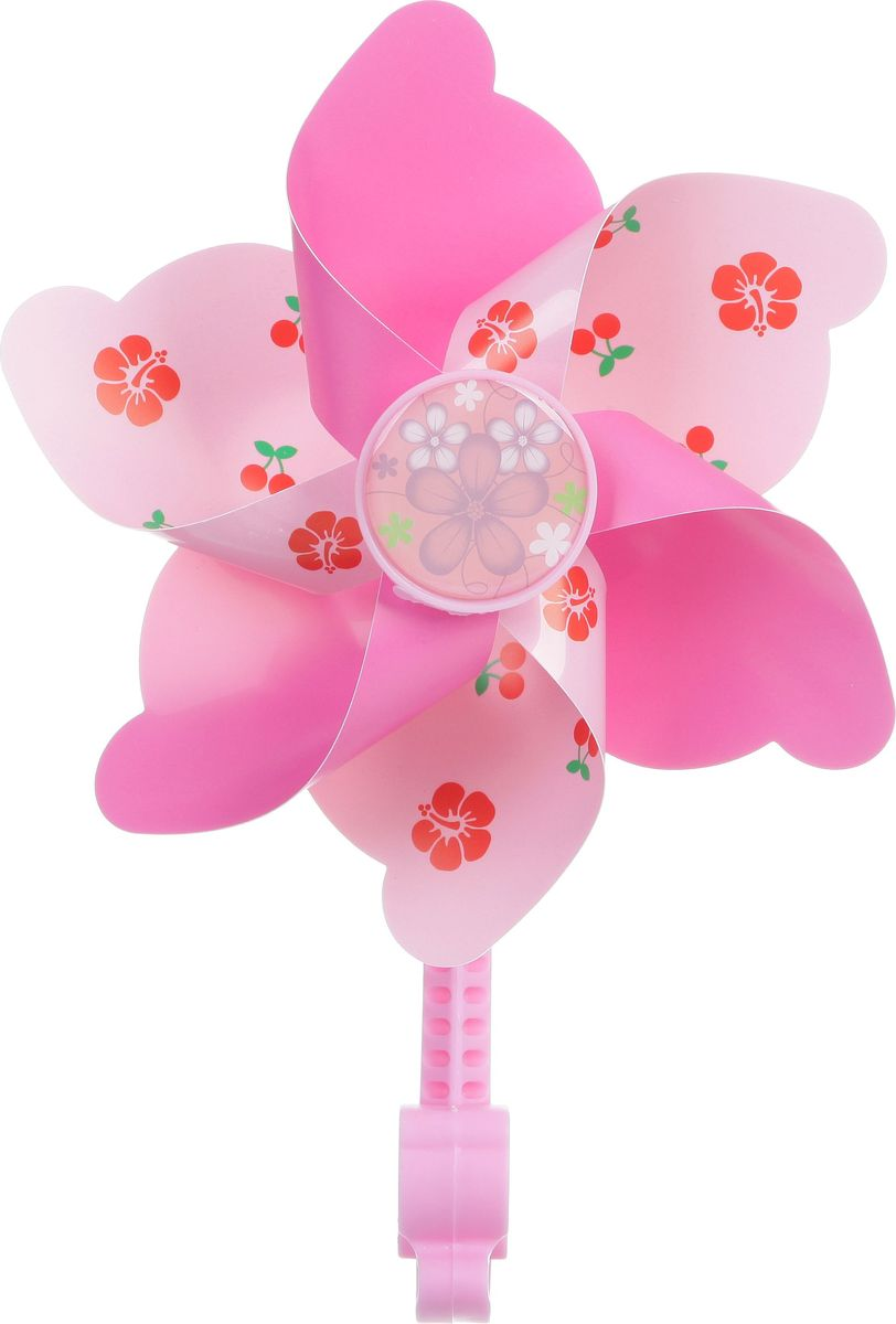 Ветряная мельница STG, цвет: розовыйХ68658-5Яркая ветряная мельница STG сделает прогулки вашего ребенка на намного веселее. Мельница предназначена для крепления на руль велосипеда или самоката.