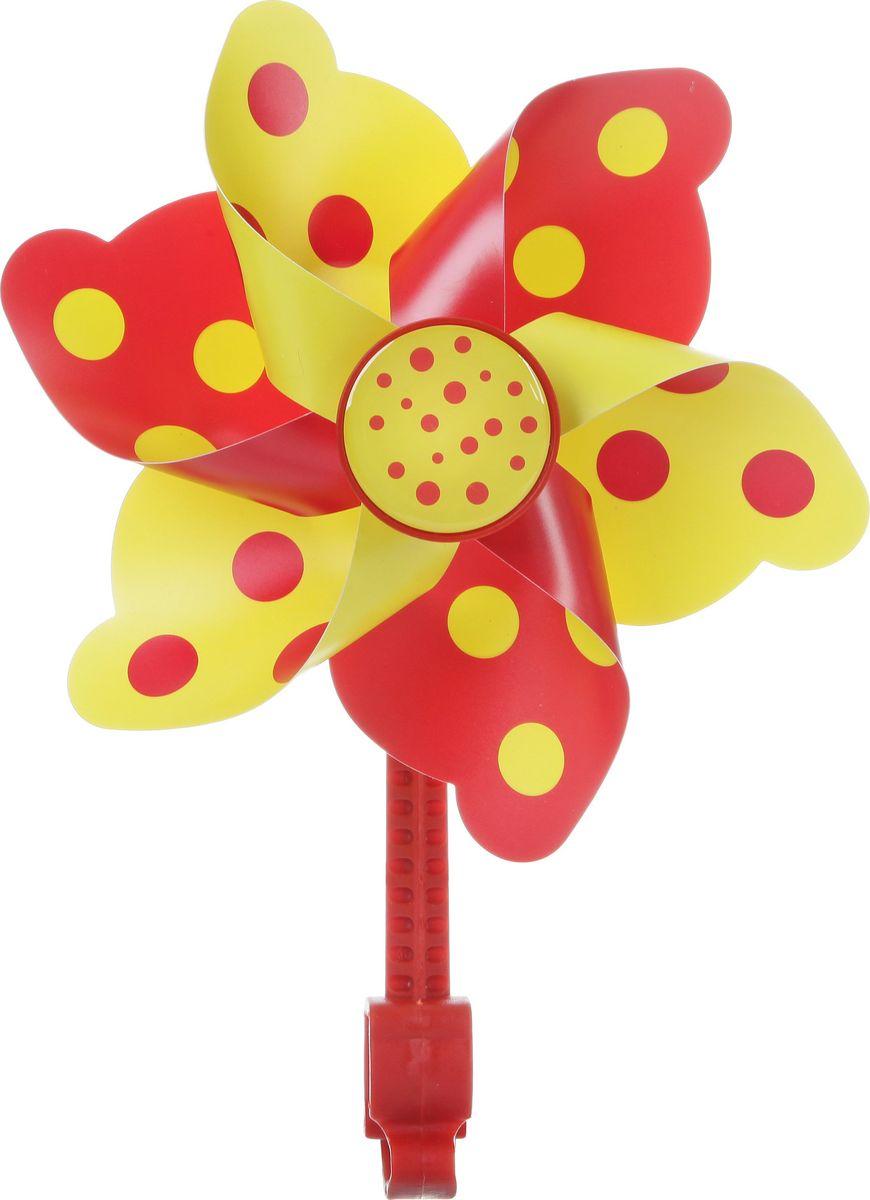 Ветряная мельница STG, цвет: желтыйХ68659-5Яркая ветряная мельница STG сделает прогулки вашего ребенка намного веселее. Мельница предназначена для крепления на руль велосипеда или самоката.