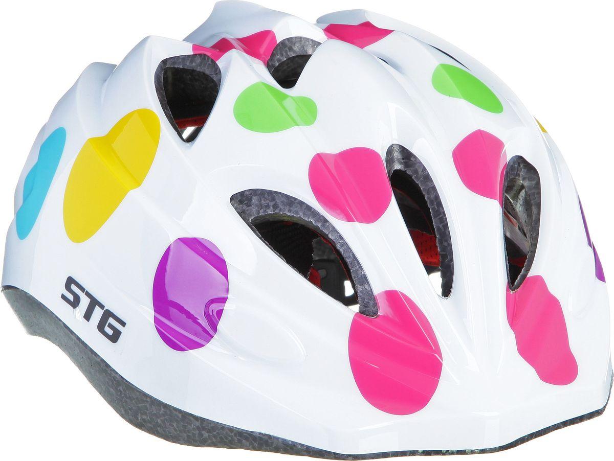 Шлем STG HX-Y01AХ74066-5Детский велошлем обеспечит безопасность ребенка во время катания. Шлем является обязательным атрибутом, особенно для маленьких любителей покататься на велосипеде, беговеле или самокате, которые только познают азы самостоятельного катания.