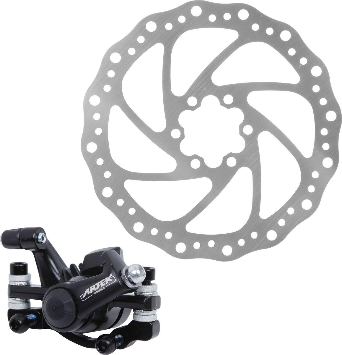 Тормоз механический дисковый Artek ADC-09Х75245Велосипед, как и любой другой вид транспорта, должен быть оборудован такими тормозами, которые смогут гарантированно остановить его, но при этом не будут излишне большими по размеру и весу. Тормоз механический дисковый Artek обеспечит вам качественное и своевременное торможение.