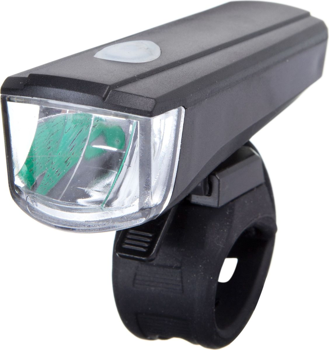 Фонарь велосипедный STG JY7036, переднийХ81480Легкий и компактный передний фонарь STG JY7036 позволит вам без опаски кататься ночью и при плохой видимости на дорогах. Изделие выполнено из прочного пластика и металла, имеет 2 режима работы. В качестве элементов питания используются 3 батарейки ААА.