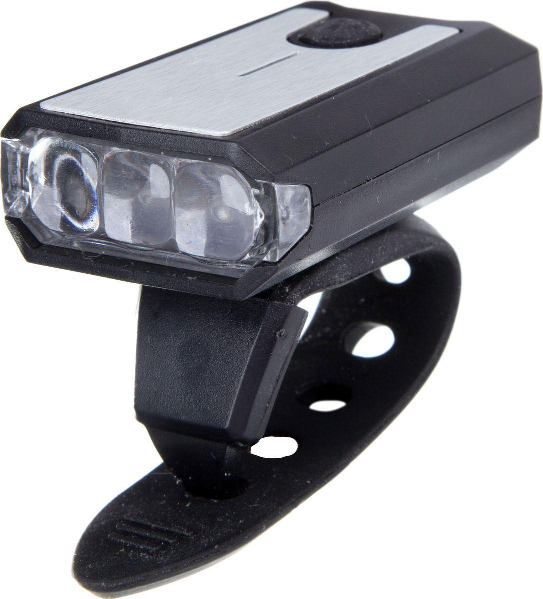 Фонарь велосипедный STG JY7015, передний, с зарядкой от USBХ81481Передний велофонарь STG JY7015 предназначен для обеспечения большей безопасности при поездках в темное время суток. Он легко крепится и снимается без дополнительных инструментов. Корпус изделия выполнен из прочного алюминия, пластика и резины. Фонарь имеет 2 режима: свечение и мерцание. Фонарь питается от литиевой батарейки (3,7V/300mAh), заряжающегося от компьютера при помощи USB кабеля.Размер фонаря: 4,3 х 4,3 х 4,3 см.