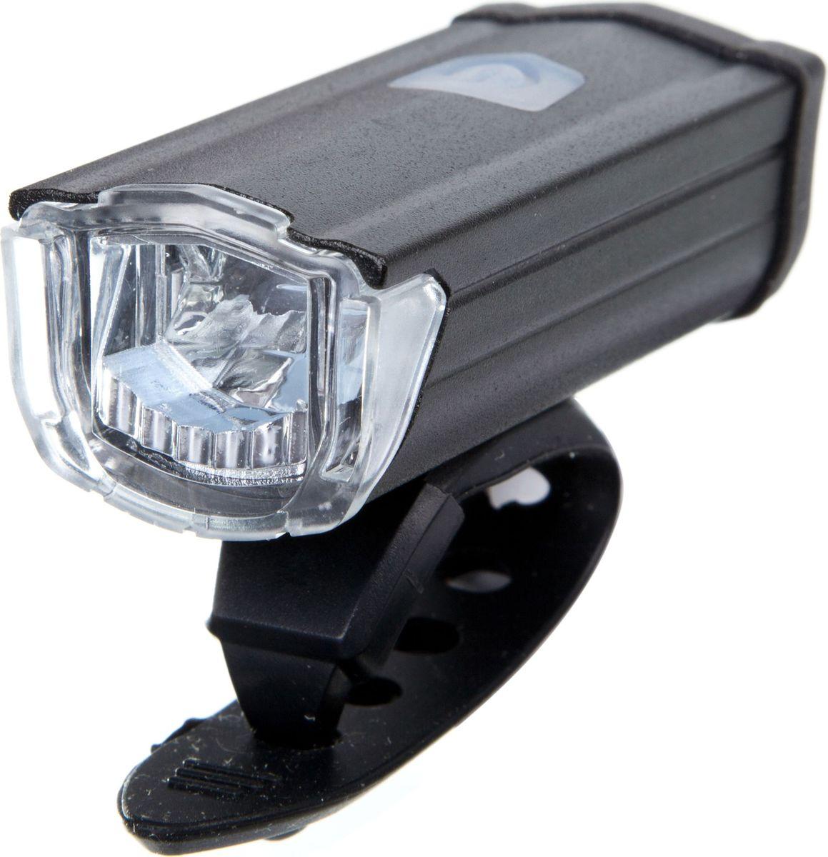 Фонарь велосипедный STG JY7040, передний, с зарядкой от USB, цвет: черныйХ81483Передний велофонарь STG JY7040 предназначен для обеспечения большей безопасности при поездках в темное время суток. Он легко крепится и снимается без дополнительных инструментов. Корпус изделия выполнен из прочного алюминия, пластика и резины. Фонарь имеет 3 режима: 100% свечение (1,5 часа), 50% свечение (2,5 часа), мерцание (2,5 часа).Фонарь питается от литиевой батарейки (3,7V/550mAh), заряжающегося от компьютера при помощи USB кабеля.