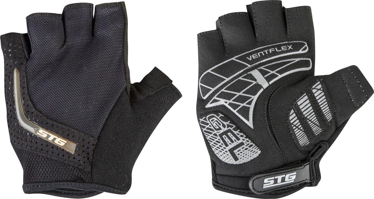 Перчатки велосипедные STG AI-03-108, летние, цвет: черный, серый. Размер L