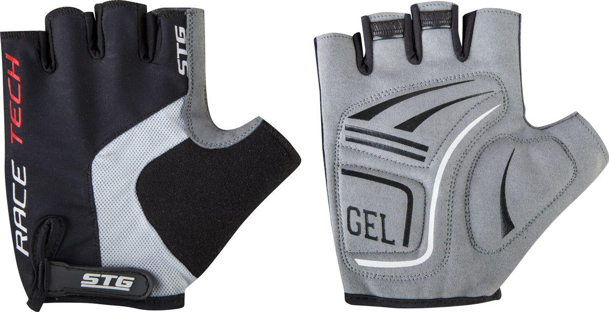 Перчатки велосипедные STG AI-03-176, летние, цвет: черный, серый. Размер XL
