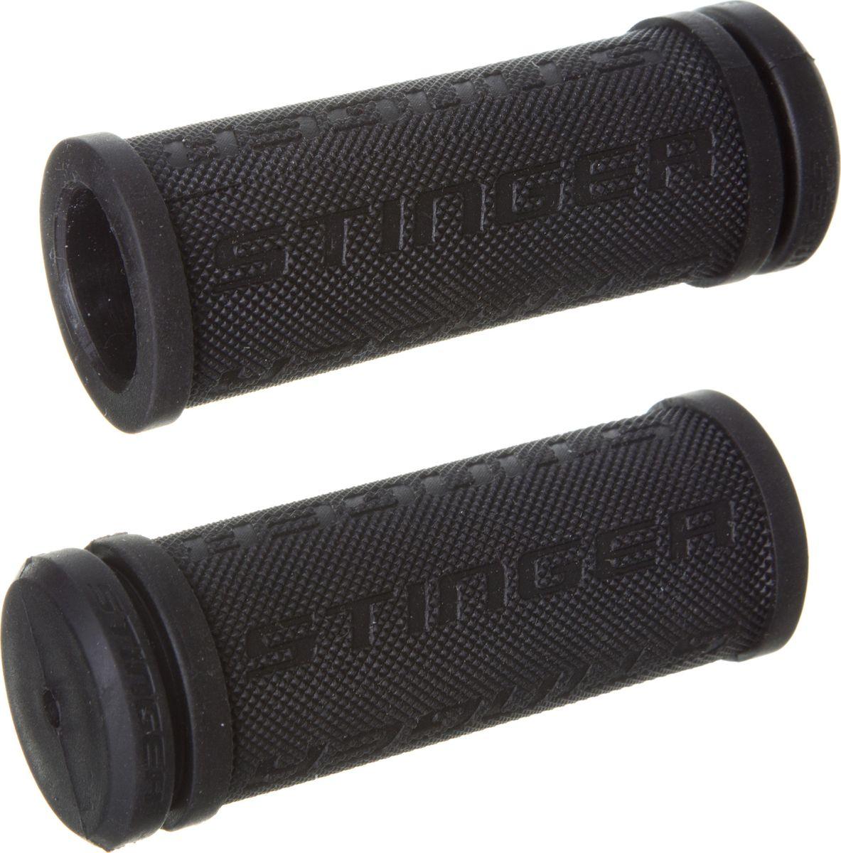 Грипсы STG HL-G92-1 BK, цвет: черный, 76 мм, 2 штХ82240Грипсы STG HL-G92-1 BK выполнены из мягкой двухкомпонентной резины. Рельефная текстура обеспечивает отличное сцепление. Грипсы предназначены для более удобного управления велосипедом.Длина грипс: 76 мм.