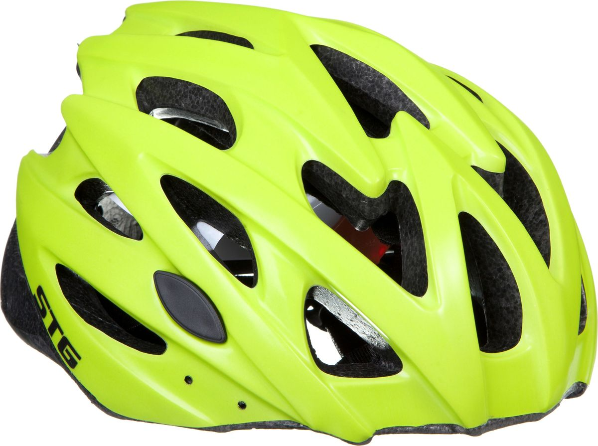"""Велошлем STG """"MV29-A"""" - необходимый аксессуар каждого велосипедиста, предназначенный для защиты головы во время катания. Специальные отверстия обеспечивают оптимальную вентиляцию головы. Велошлем STG """"MV29-A"""" с удобной подкладкой и застежкой, которая комфортно фиксирует шлем на голове велосипедиста - это отличный выбор для ежедневных активных поездок или безопасных прогулок по выходным.  Обхват головы: L (58-61см).    Гид по велоаксессуарам. Статья OZON Гид"""
