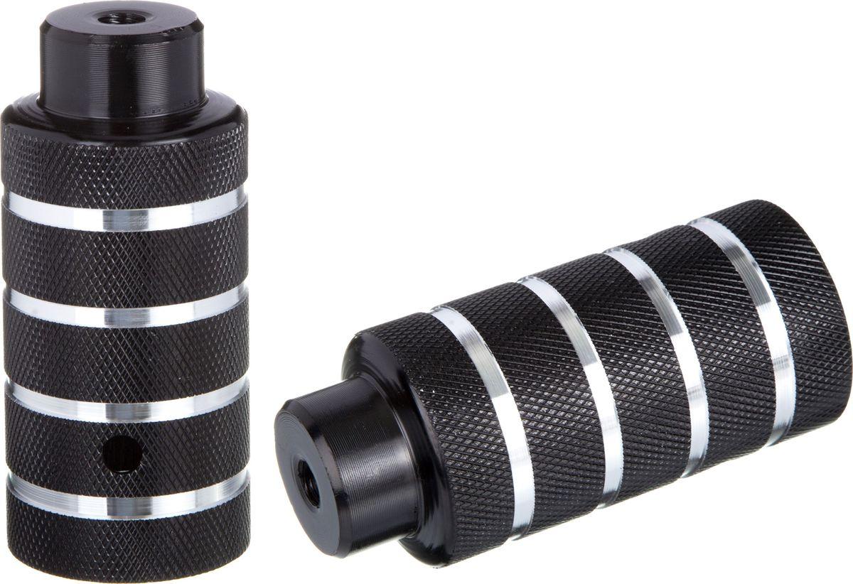 Пеги для BMX STG, цвет: черный, серебристый, диаметр 5 см, длина 11 см, 2 шт фонарь на ниппель stg jy 503c 11 2 шт х54095