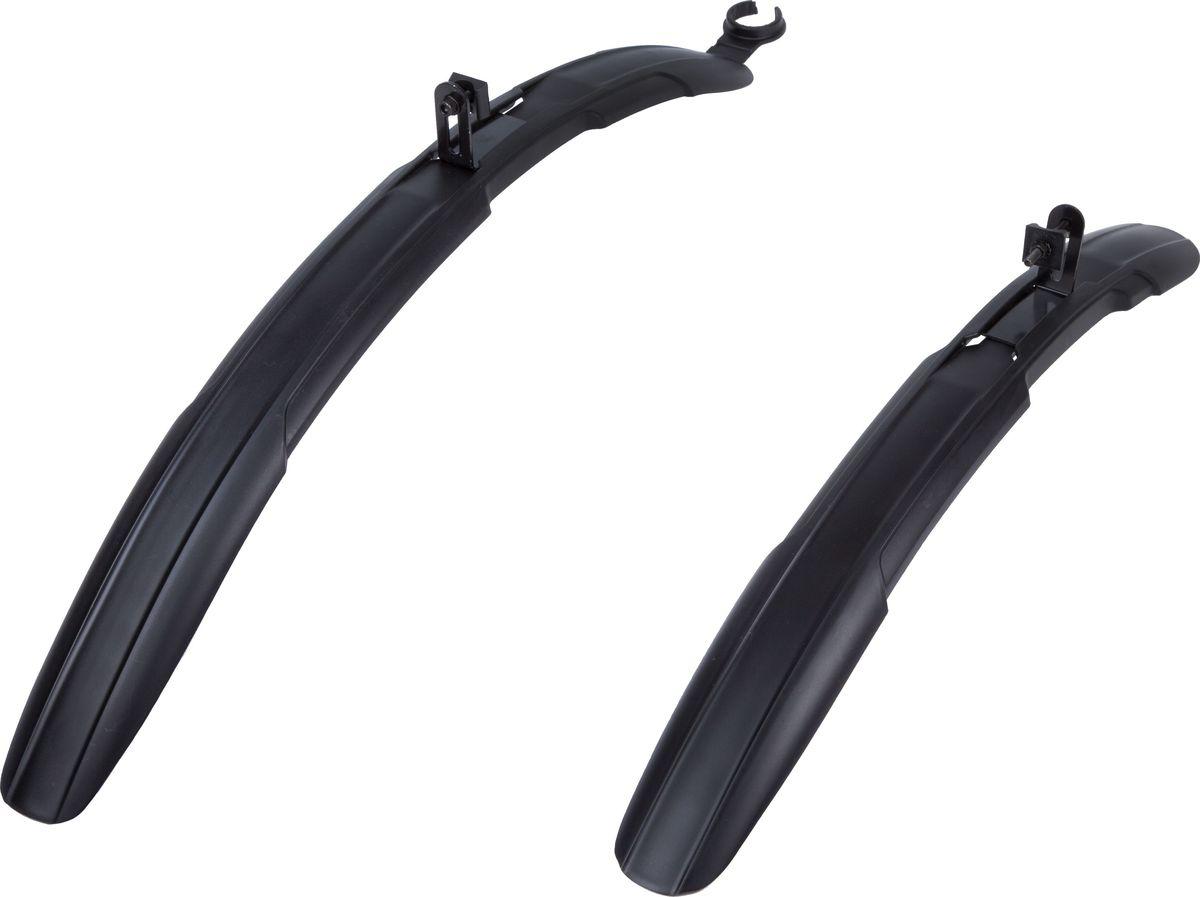 Комплект велосипедных крыльев STG HL-806, для колес диаметром 26-28, 2 штХ82731Комплект велосипедных крыльев STG HL-806 включает в себя 2 крыла: переднее и заднее. Крылья, выполненные из пластика и стали, предназначены для горных велосипедов. Они уберегут вас от грязи и брызг из под колес. Крылья предназначены для велосипедов с диаметром колеса от 26 до 28.