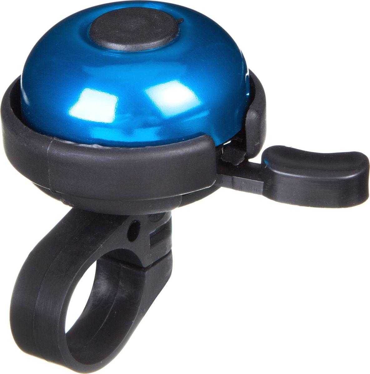 Звонок велосипедный STG 31А-05, цвет: синий, черныйХ82742Звонок STG 31А-05, выполненный из высококачественных материалов, предупредит пешеходов и других велосипедистов о вашем приближении, а также обеспечит безопасность вашего движения. Звонок предназначен для крепления на руль и подойдет не только для велосипедов, но и для самокатов.