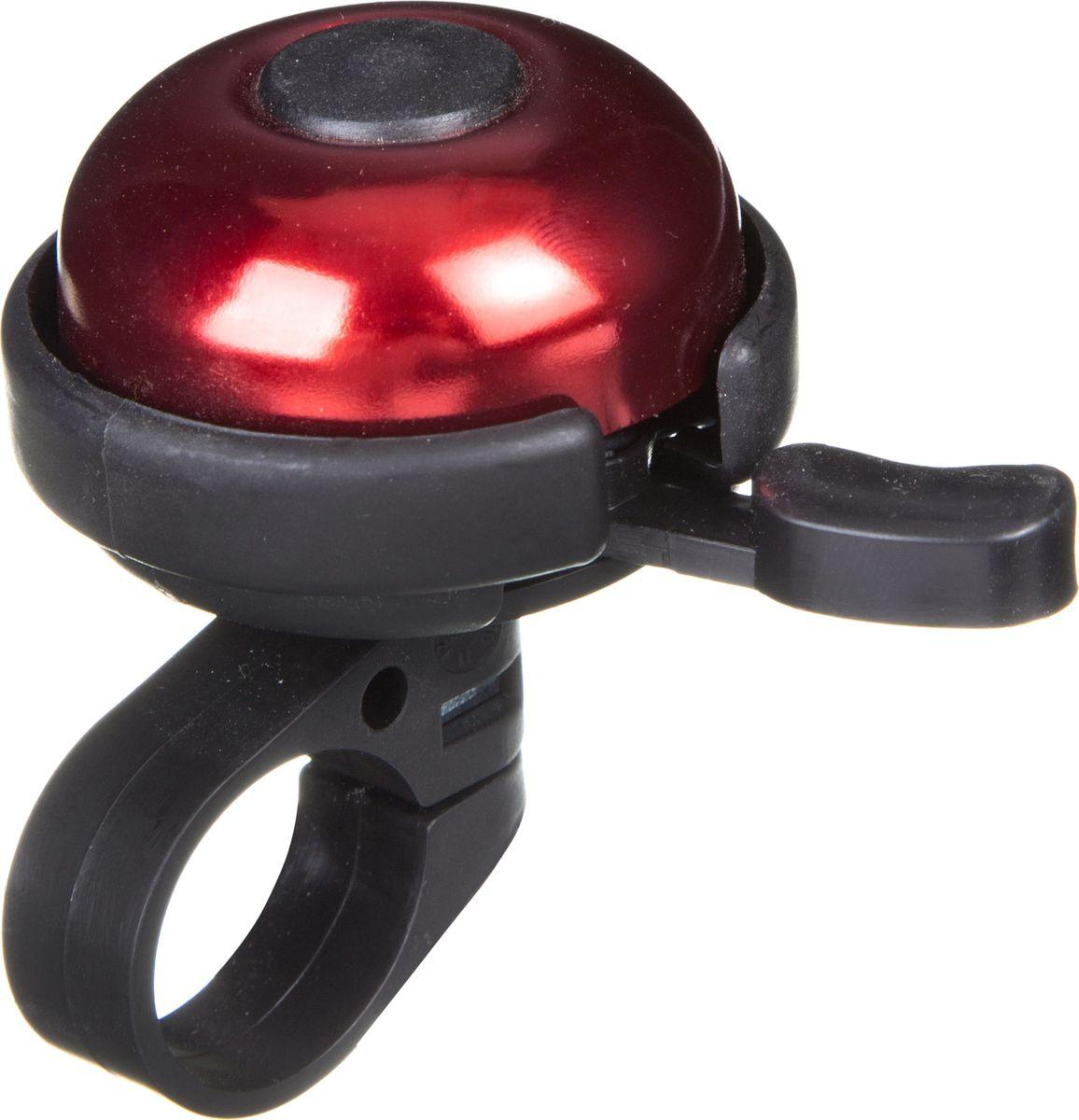 Звонок велосипедный STG 31А-05, цвет: красный, черный насос велосипедный stg gp 61s ручной