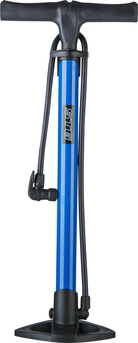 Насос велосипедный STG GF-37, напольный, с выходом под автониппель насос велосипедный stg gp 46l ручной