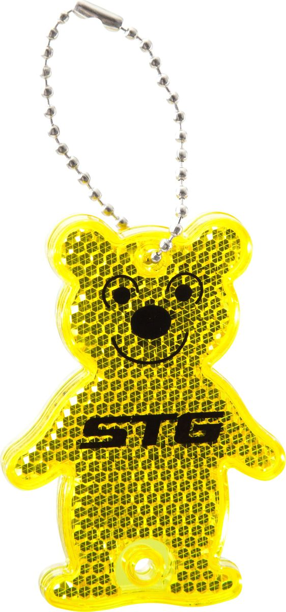Брелок светоотражающий STG Медведь. KW-101Х82811Светоотражающий брелок STG в виде медведя можно повесить на рюкзак или ключи. Выполнен из пластика и стали.Брелок-светоотражатель поможет обезопасить вас в темное время суток и сделать более заметным на дороге.Гид по велоаксессуарам. Статья OZON Гид