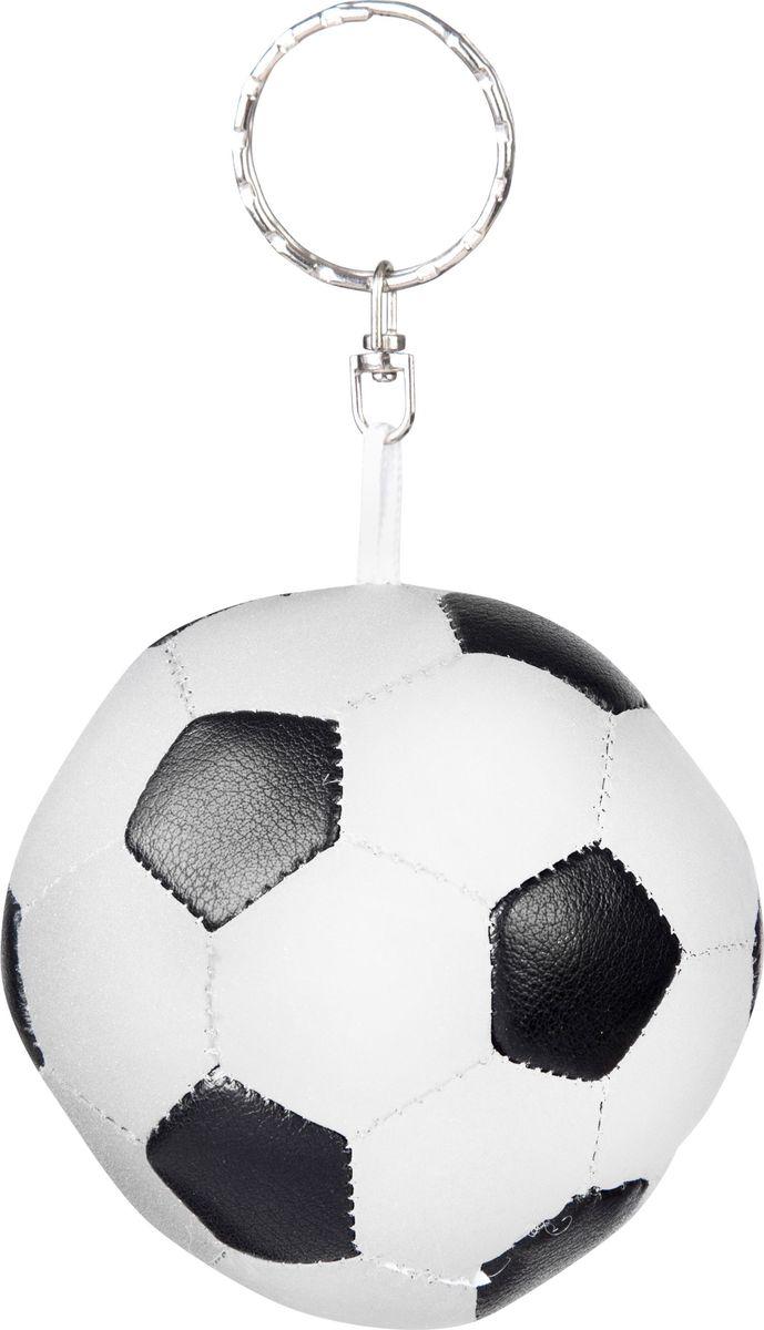 Брелок светоотражающий STG Футбольный мяч. RT-007Х82812Светоотражающий брелок STG в виде футбольного мяча можно повесить на рюкзак или ключи. Выполнен из ткани и стали.Брелок-светоотражатель поможет обезопасить вас в темное время суток и сделать более заметным на дороге.Гид по велоаксессуарам. Статья OZON Гид