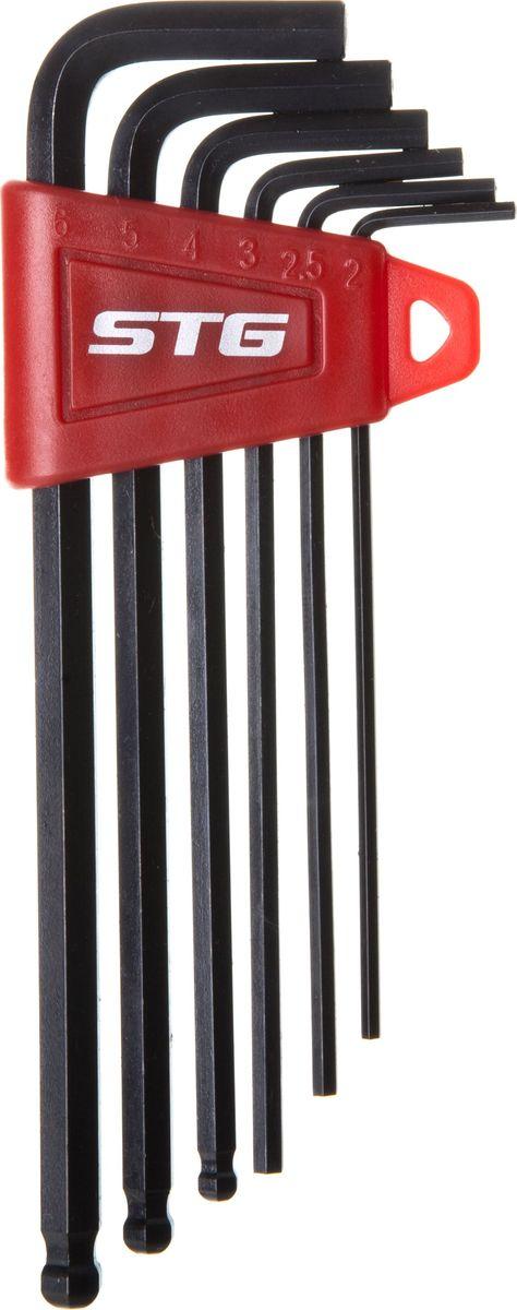 Набор шестигранных ключей STG YC-613, 6 шт фонарь на ниппель stg jy 503c 11 2 шт х54095