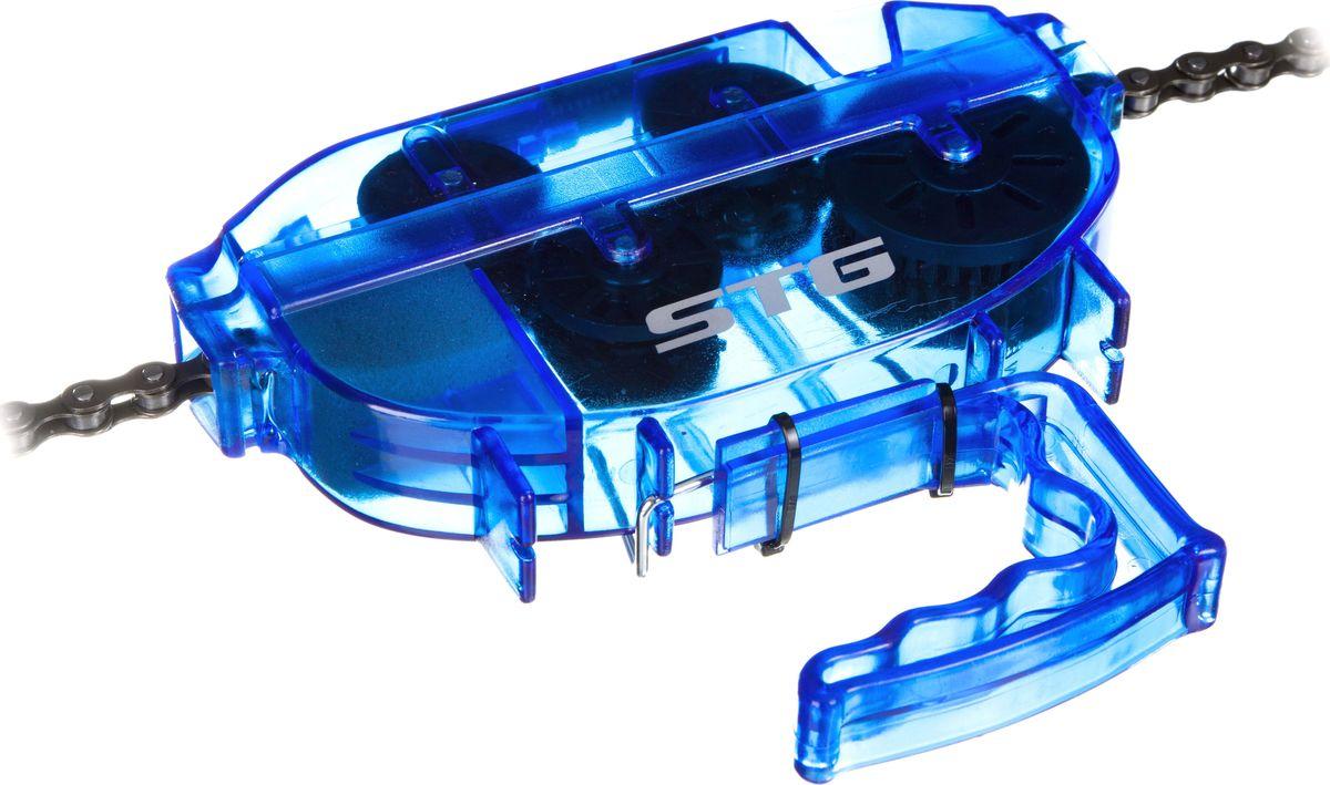 Машинка для чистки цепи STG YC-791 машинка 6 14791 для чистки цепи yc 791 в 2 х плоск с рукояткой голубая bikehand