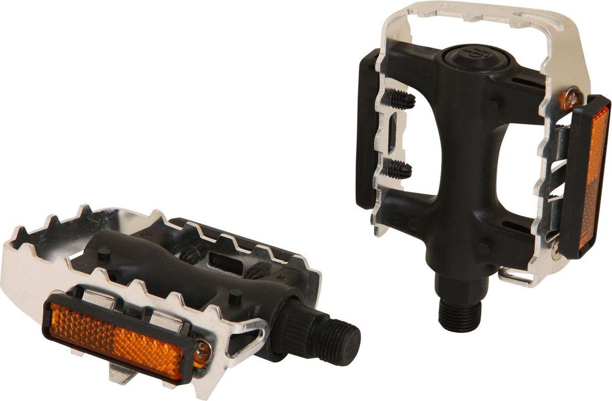 Педали STG FP-906, 2 штХ83534Высокопрочные цельные педали STG FP-906, выполненные из прочного пластика и стали, оснащены встроенными светоотражателями для безопасности. Прочная ось 9/16.