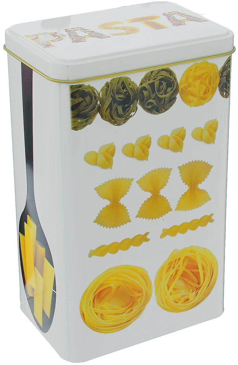 """Металлическая банка """"Микс. Макароны"""" - лучший способ сохранить крупы и травы, чай и кофе в наилучшем состоянии.Изделия от Рязанской фабрики жестяной упаковки радуют потребителей уже долгие годы. Чем хороша именно эта банка?- Плотная крышка предохраняет содержимое от высыпания.- Защита от солнечного света продлевает срок годности продуктов.- Яркий дизайн добавит свежую нотку в оформление кухни.- Банка может быть использована для хранения мелких хозяйственных предметов.Наводите порядок на кухне со вкусом!Размер: 9 х 13 х 21 см."""