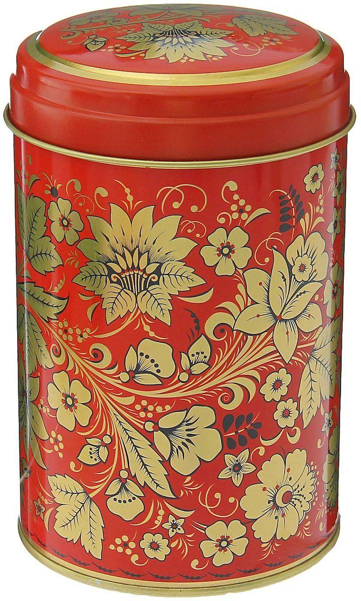 Банка для сыпучих продуктов Рязанская фабрика жестяной упаковки Хохлома. Цветы, 1,1 л1528396Металлическая банка Хохлома. Цветы - лучший способ сохранить крупы и травы, чай и кофе в наилучшем состоянии.Изделия от Рязанской фабрики жестяной упаковки радуют потребителей уже долгие годы. Чем хороша именно эта банка?- Плотная крышка предохраняет содержимое от высыпания.- Защита от солнечного света продлевает срок годности продуктов.- Яркий дизайн добавит свежую нотку в оформление кухни.- Банка может быть использована для хранения мелких хозяйственных предметов. Наводите порядок на кухне со вкусом!