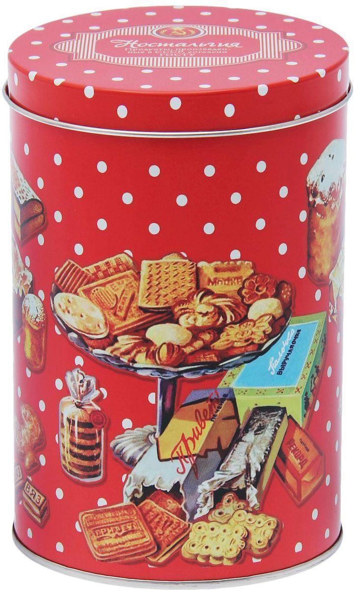 Банка для сыпучих продуктов Рязанская фабрика жестяной упаковки Ностальгия, 1,1 л1617195Металлическая банка Ностальгия - лучший способ сохранить крупы и травы, чай и кофе в наилучшем состоянии.Изделия от Рязанской фабрики жестяной упаковки радуют потребителей уже долгие годы. Чем хороша именно эта банка?- Плотная крышка предохраняет содержимое от высыпания.- Защита от солнечного света продлевает срок годности продуктов.- Яркий дизайн добавит свежую нотку в оформление кухни.- Банка может быть использована для хранения мелких хозяйственных предметов. Наводите порядок на кухне со вкусом!