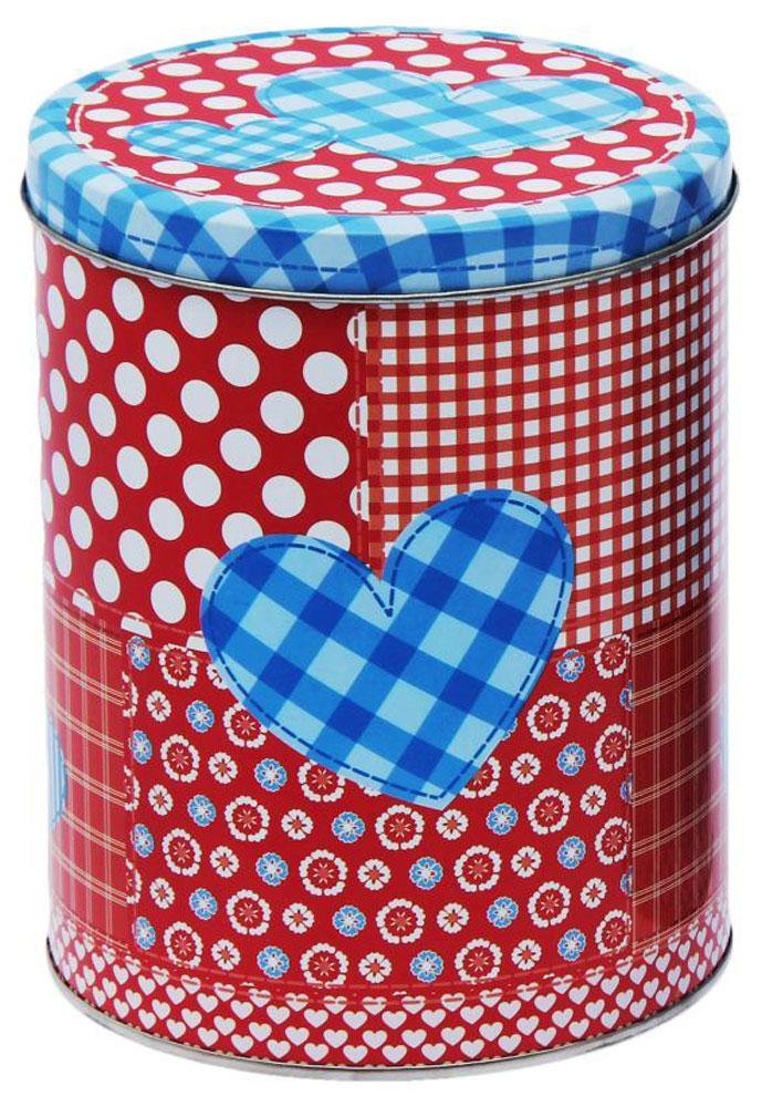 Набор банок для сыпучих продуктов Рязанская фабрика жестяной упаковки Пэчворк. Сердце, 3 шт junior republic junior republic шапка шлем с помпонами красный
