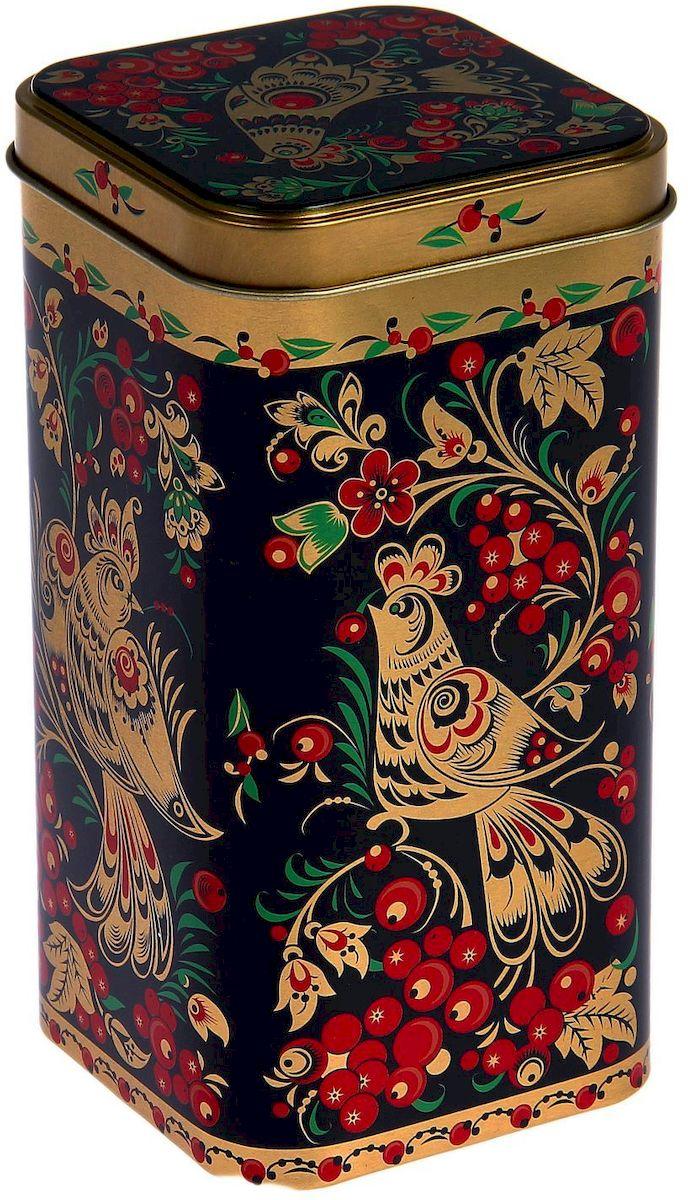 Банка для сыпучих продуктов Рязанская фабрика жестяной упаковки Хохлома. Птицы, 1,4 л1669573Металлическая банка Хохлома. Птицы - лучший способ сохранить крупы и травы, чай и кофе в наилучшем состоянии.Изделия от Рязанской фабрики жестяной упаковки радуют потребителей уже долгие годы. Чем хороша именно эта банка?- Плотная крышка предохраняет содержимое от высыпания.- Защита от солнечного света продлевает срок годности продуктов.- Яркий дизайн добавит свежую нотку в оформление кухни.- Банка может быть использована для хранения мелких хозяйственных предметов. Наводите порядок на кухне со вкусом!