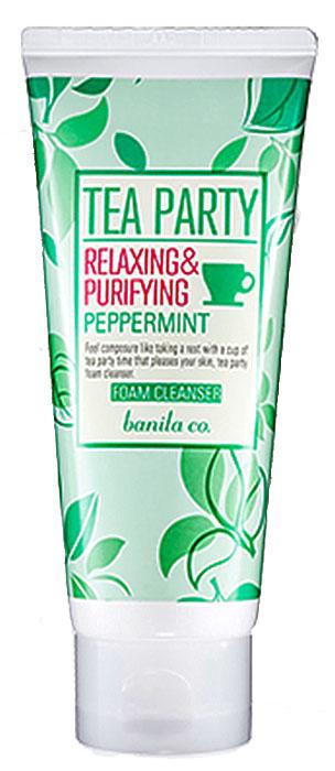 Banila Co Пенка для умывания Перечная мята Tea Party Foam Cleanser Peppermint, 120 млCL0041K01Обеспечивает аккуратное очищение кожи, удаляет загрязнения, ороговевшие клетки, стимулирует обновление клеток кожи. Легко проникает в поры кожи, удаляя уличную пыль, различные загрязнения. Растительный комплекс тонизирует уставшую кожу, увлажняет ее, поддерживает оптимальный баланс кожи и улучшает ее состояние, помогает восстановить гладкость кожи.