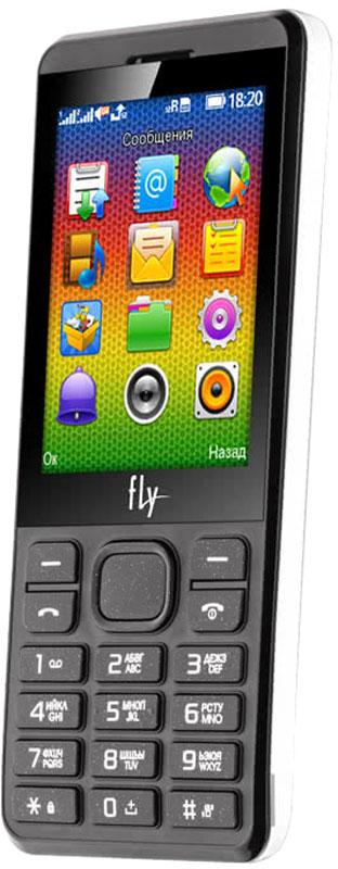Fly FF281, White9460Мобильный телефон Fly FF281 оснащен 2,8-дюймовым экраном, созданным с применением технологии TN. За счет этого изображение на нем выглядит четким, ярким и контрастным.Встроенный проигрыватель дает возможность воспроизводить аудио- и видеофайлы популярных форматов. Кроме того, телефон можно использовать в качестве миниатюрного радиоприемника. Fly FF281 читает MP3-файлы и поддерживает работу с картами памяти на 16 Гб. Мобильный телефон помогает экономить на оплате счетов за услуги связи. Он поддерживает две SIM-карты стандартных размеров, позволяя менять операторов или тарифы в зависимости от ситуации.Телефон оснащен емким аккумулятором 1400 мАч. Максимальная продолжительность работы устройства в режиме ожидания - 250 часов. При разговоре батареи хватает на 5 часов.Телефон сертифицирован EAC и имеет русифицированную клавиатуру, меню и Руководство пользователя.