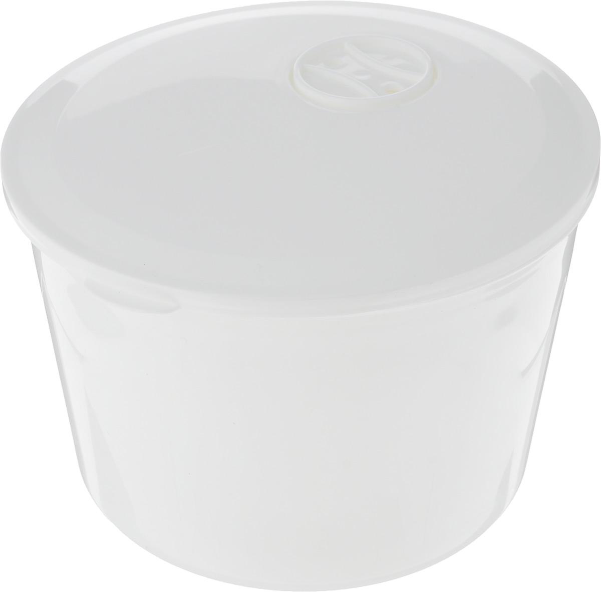 """Контейнер для обеда """"HITT"""" выполнен из качественного пищевого пластика. Контейнер очень вместительный и вмещает в себя полноценный обед. Кроме того, он снабжен съемной чашей с двумя секциями, куда можно положить салат или хлеб. Контейнер плотно закрывается крышкой, поэтому содержимое останется в сохранности. Можно использовать в микроволновой печи при температуре до +100°С, ставить в морозильную камеры при температуре до -20°С. Можно мыть в посудомоечной машине. Диаметр контейнера: 16 см. Высота контейнера: 11 см. Размер секции: 14 х 7 см."""