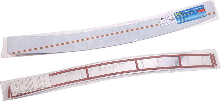 Накладка бампера декоративная DolleX, для Ford FusionNBI-037Накладка бампера декоративная DolleX придает автомобилю стильный и неповторимый вид, эффективно защищает бампер от повреждения лакокрасочного покрытия.Подходит для FORD Fusion.Отличительные особенности:- Полированная нержавеющая сталь;- Толщина стали 0,5 мм.;- Стильный внешний вид;- Легкая и быстрая установка;- Крепление - лента липкая двухсторонняя.