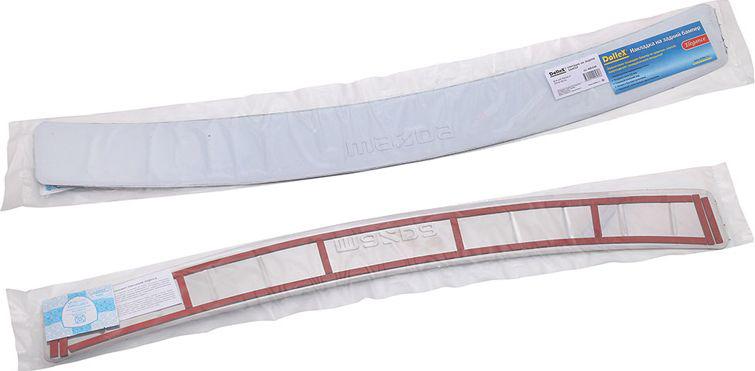 Накладка бампера декоративная DolleX, для MAZDA 6 (2012-2014)NBI-039Придают автомобилю стильный и неповторимый вид, эффективно защищает бампер от повреждения лакокрасочного покрытия. Отличительные особенности: - Полированная нержавеющая сталь; - Толщина стали 0,5 мм.; - Стильный внешний вид; - Легкая и быстрая установка; - Крепление лента липкая двухсторонняя.