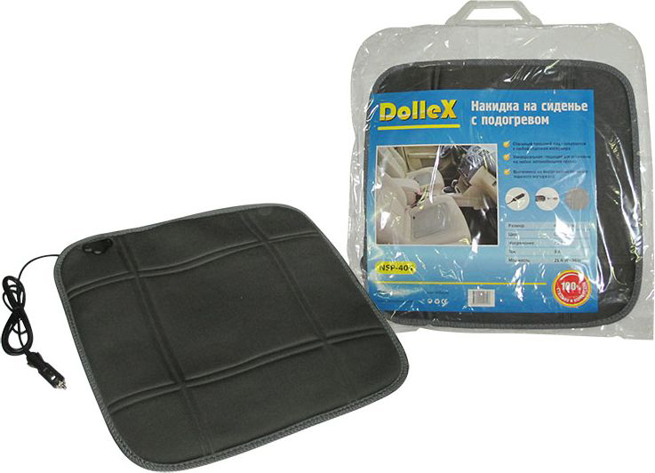 Накидка на сиденье DolleX, с электро-подогревом, цвет: серый, 450 х 450 ммNSP-404Размер: 45 х 45 см Цвет: Серый. Напряжение: 12V Ток: 3А Мощность: 21.6W - 36W Стильный внешний вид сочетается с любой отделкой интерьера. Универсальная - подходит для установки на любое автомобильное кресло. Выполнена из высококачественного тканного материала.