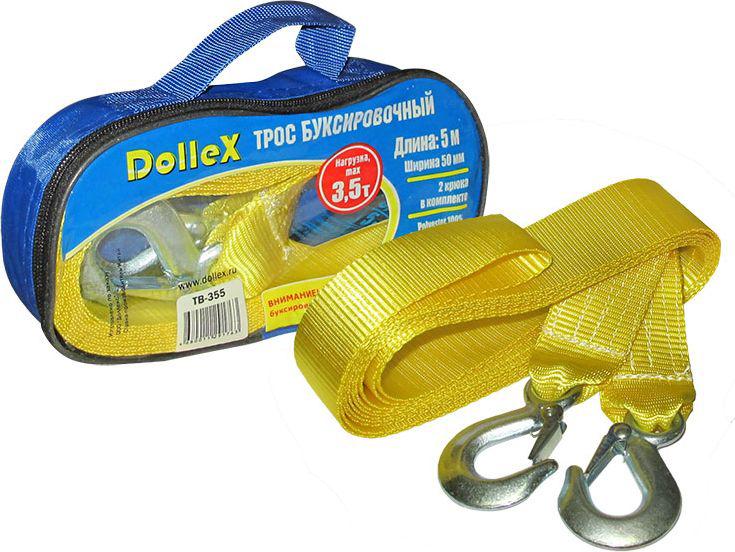 Трос буксировочный DolleX, 2 крюка, 3,5 т, 5 м, в сумкеTB-355Лента для тросов буксировочных Dollex изготавливается из 100% полиэстера.Стальные крюки выдерживают заявленные нагрузки, просты в использование и надежны в эксплуатации.Все тросы буксировочные упакованы в удобную сумку для хранения с замком молнией.Длина: 5 мШирина: 50 ммНагрузка, мах 3,5 т2 крюка в комплектеPolyester 100%Удлинение мах 7%