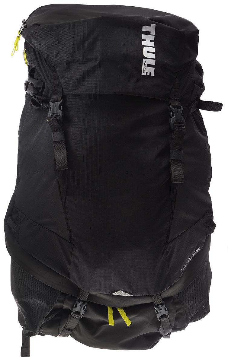 Рюкзак туристический мужской Thule Capstone, цвет: темно-серый, салатовый, 50 л223100Туристический мужской рюкзак Thule Capstone идеально подходит для однодневных путешествий или коротких походов. Рюкзак снабжен системой крепления MicroAdjust, которая обеспечивает максимальную регулировку для идеальной посадки, натягиваемой сеточной задней панелью для максимальной воздухопроницаемости и вшитой накидкой от дождя. Система крепления MicroAdjust позволяет отрегулировать ремень для торса на 10 см при надетом рюкзаке, чтобы добиться идеальной посадки. Сеточная задняя панель натягивается, обеспечивая превосходную воздухопроницаемость и позволяя вам не потеть и оставаться сухим в пути. Яркая съемная накидка от дождя обеспечивает сухость ваших принадлежностей во время ливней. Карманы с застежкой-молнией на крышке и набедренном ремне для хранения солнцезащитных очков и других мелких предметов. Доступ сверху, сбоку и снизу позволяет легко добраться до содержимого в дороге, а также загружать рюкзак и вынимать из него вещи. Эластичный карман Shove-it Pocket обеспечивает быстрый доступ к часто используемым предметам. Боковые стягивающие ремни позволяют закрепить груз на петлях или снаружи рюкзака. Крепления для трекинговых палок и ледоруба с эластичными стропами можно убрать, если они не используются. Конструкция, предназначенная для хранения воды, включает карман для емкости с водой, отверстие для трубки и два боковых кармана для бутылок с водой.