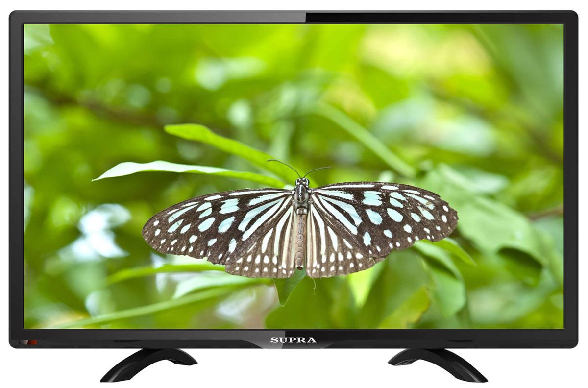 Supra STV-LC24450WL телевизорSTV-LC24450WLТелевизор Supra STV-LC24450WL с насыщенной цветопередачей изображения на экране с разрешением 1920x1080 FullHD и широкими углами обзора. Источником сигнала для качественной реалистичной картинки служат не только цифровые эфирные и кабельные каналы, но и любые записи с внешних носителей, благодаря универсальному встроенному USB медиаплееру.Количество цветов: 16,7 миллионовПоддержка HDTVЯркость: 230 кд/м2Динамическая контрастность: 60000:1Угол обзора: 170°Время отклика пикселя: 5 мс
