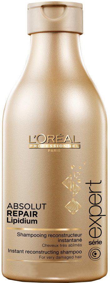 LOreal Professionnel Expert Absolut Repair Lipidium Shampoo - Шампунь для сильно поврежденных волос 300 млE0640504Благодаря системе Neofibrine (комбинации керамида Bio-Mimetic, укрепляющего волосы, УФ-фильтра и усиливающего блеск волос компонента) шампунь Absolut Repair Lipidium восстанавливает поврежденные волосы на клеточном уровне, возвращая им силу и прочность. Волосы становятся крепкими, защищенными, они наполняются жизненной силой и сиянием.Уважаемые клиенты! Обращаем ваше внимание на возможные изменения в дизайне упаковки. Качественные характеристики товара остаются неизменными. Поставка осуществляется в зависимости от наличия на складе.