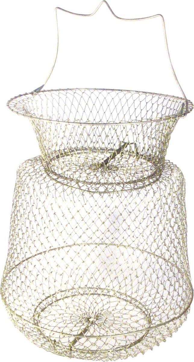 Садок Atemi, цвет: серебристый, диаметр 25 см. 708-12510708-12510В рыбалке лучше всего содержать рыбу в садке. Садок следует опустить в воду как можно глубже и лучше на течение и на дно, положив в него груз. Он позволяет сохранить жизненные силы рыбы для того, чтобы она как можно дольше прожила в садке или на кукане.